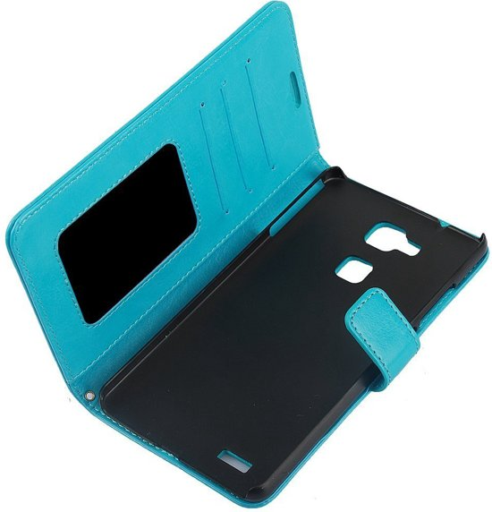 Cyclone cover wallet hoesje Huawei Mate S blauw