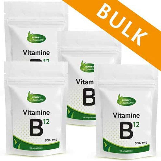 Vitamine B12 5000 mcg BULK - 400 tabletten