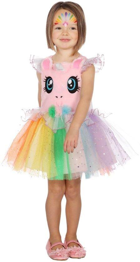 Eenhoorn Kostuum | Fantasie Droom Eenhoorn | Meisje | Maat 116 | Carnaval kostuum | Verkleedkleding