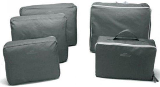 CoshX® Koffer organiser Grijs 5 stuks / set | Packing cube | Travel bag | Reis organizer | Kledinghoes | Kleding tas |Opgeruimde koffer | Reis tas