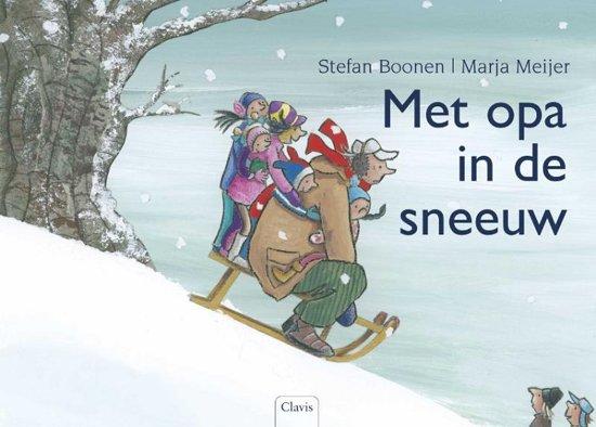 Met opa in de sneeuw