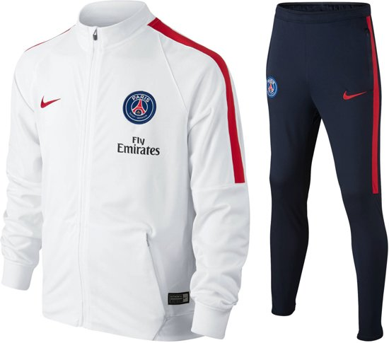 b624cead75c Nike Paris Saint-Germain Trainingspak Junior Trainingspak - Maat 152 -  Unisex - wit/