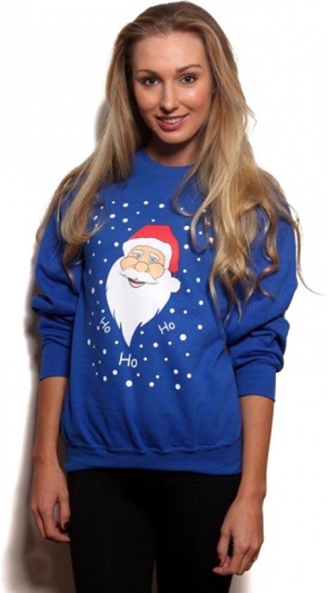 Kersttrui Dames Grote Maten.Bol Com Grote Maten Blauwe Kersttrui Met Kerstman Xl Merkloos