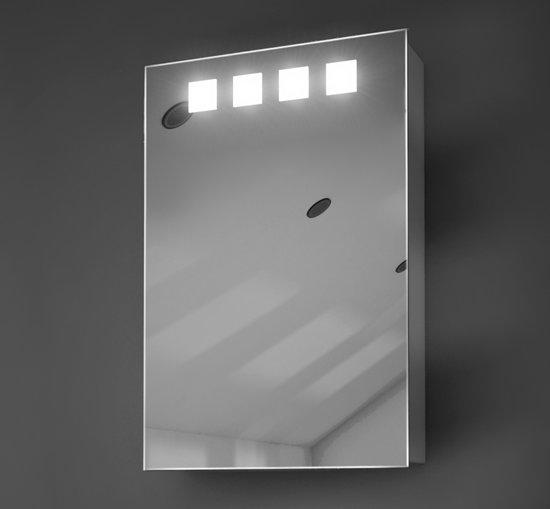 bol.com | Badkamer spiegelkastje met verlichting en stopcontact 40 cm