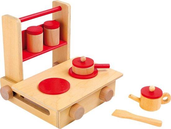 Houten Keuken Speelgoed : Bol mobiele houten keuken speelgoed