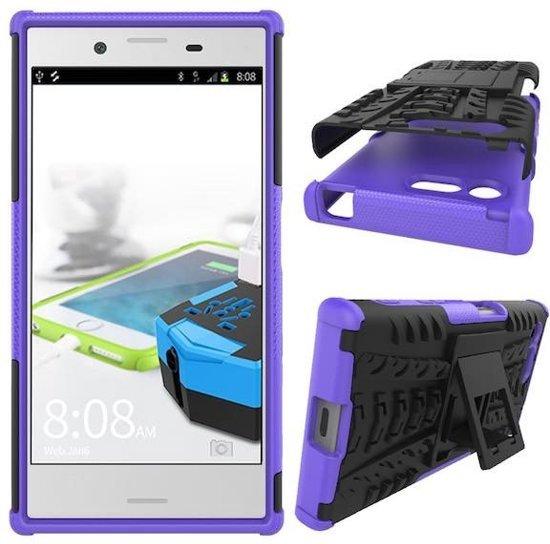 Schokbestendige Back Cover voor Sony Xperia X Compact - Paars