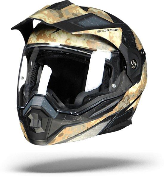 Scorpion Allroad Systeemhelm ADX-1 Ballteflage Sand/Silver-XXL