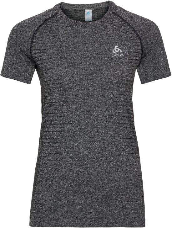 Odlo Bl Top Crew Neck S/S Seamless Element Dames Sportshirt - Grey Melange - Maat L