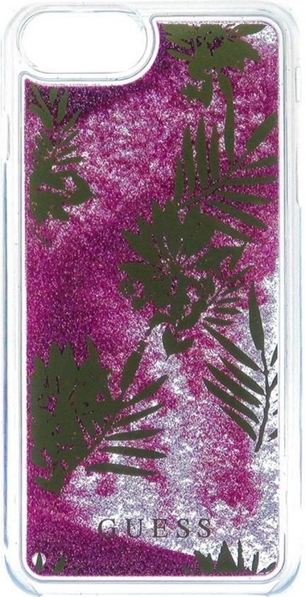Guess Liquid Glitter Palm Spring Case voor Apple iPhone 7 Plus (5.5'') -Roze in Villers-le-Bouillet