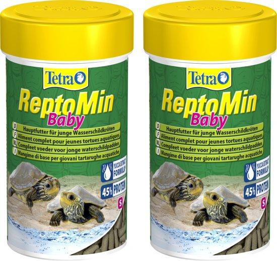 Reptomin baby voor jonge schildpadden 100 ml per 2 verpakkingen