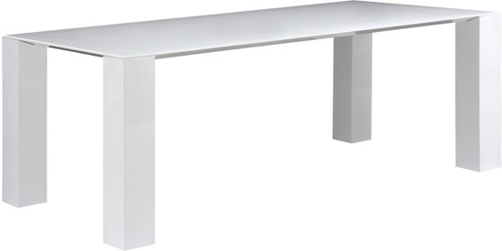 bol.com  Goossens Vision - Eettafel - Wit - 220x100 cm