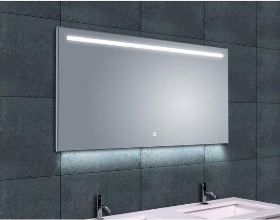 wiesbaden ambi one badkamerspiegel condensvrij dimbare led spiegel 120 x 60 cm. Black Bedroom Furniture Sets. Home Design Ideas