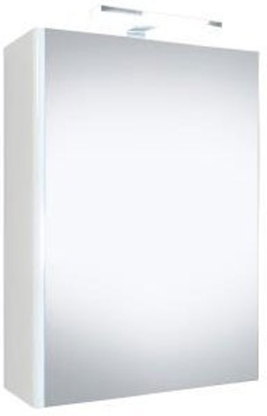 bol.com   Spiegelkast Happy 50x60x18cm MDF Hoogglans Wit LED ...