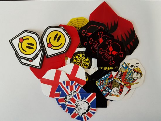 30 stuks mixed stevige - dart flights - darts flights