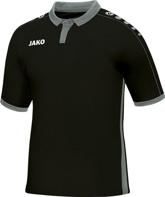 Jako - Jersey Derby S/S - zwart/grijs - Maat 164