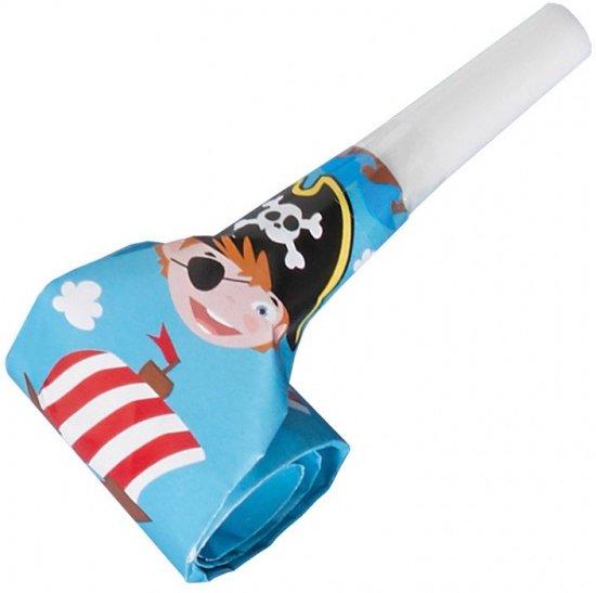 Amscan Feestfluitjes Roltong Piraten 8 Stuks 30 Cm Blauw Valentinaa