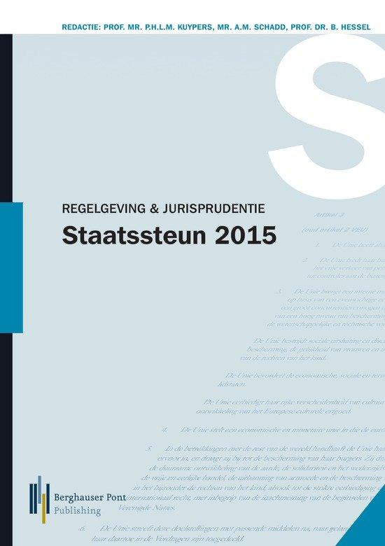 Regelgeving en jurisprudentie staatssteun 2015