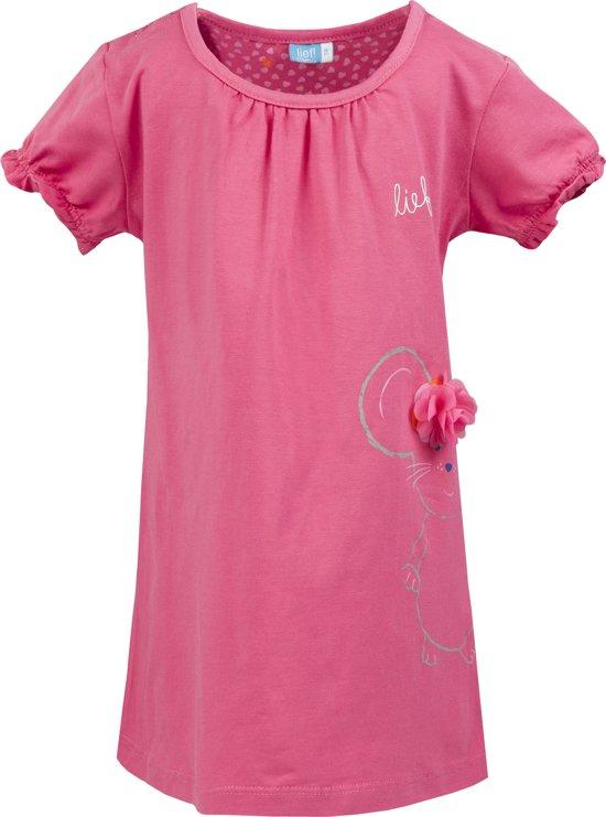 13ceb95ff9255b bol.com | Lief! Meisjes Jurk - Roze - Maat 80