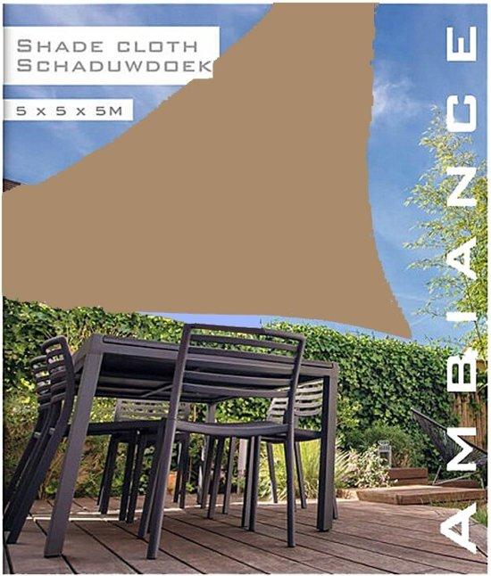 Schaduwdoek Bol Com.Bol Com Luxe Schaduwdoek 5x5x5 Meter Taupe
