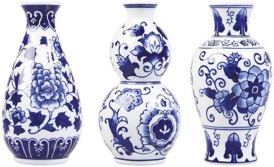 Vaas Delfts Blauw.Kleine Vaasjes Delfts Blauw Set Van 3 Delfts Blauwe Vaas Bloemenvaasjes Bloemen Vaas Vazen Relatiegeschenk Hollandse Souvenirs