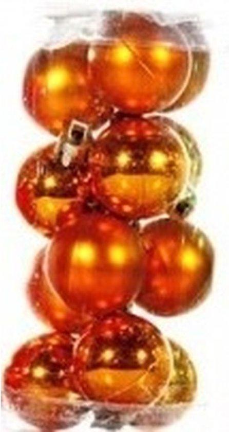 Wonderlijk bol.com | Plastic mini kerstballen oranje 12 stuks 3 cm ER-07