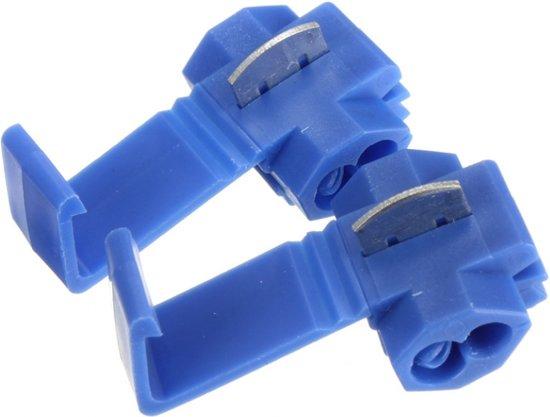Bol Com Draad Connectors Aftakklem Blauw 10 Stuks