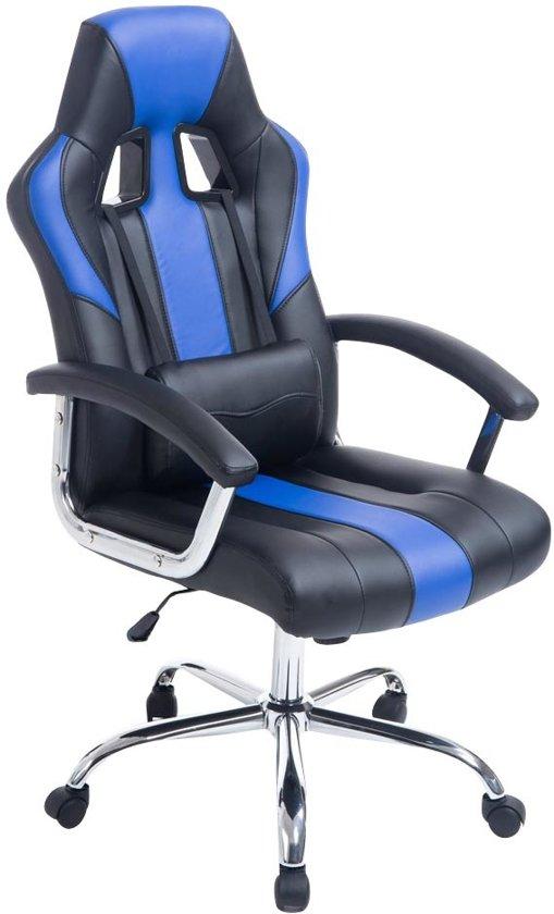 Clp Racing bureaustoel - Sport seat racing OLYMP - Gaming chair - zware belasting, ergonomisch - zwart/blauw,