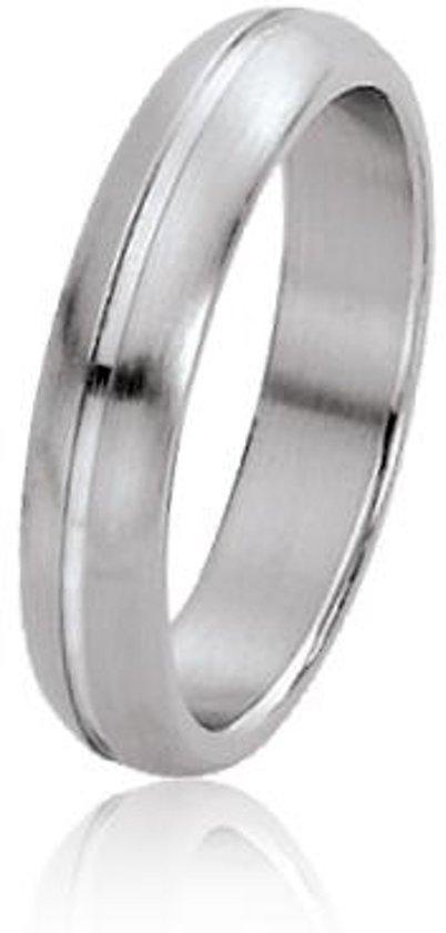 Dito relatiering - staal - glanzende streep - mat - afgerond - 5 mm breed - maat 66