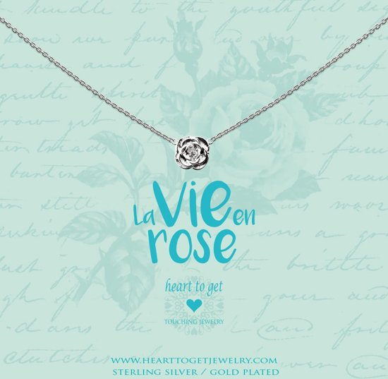 bol | heart to get necklace rose, silver, la vie en rosegold plated