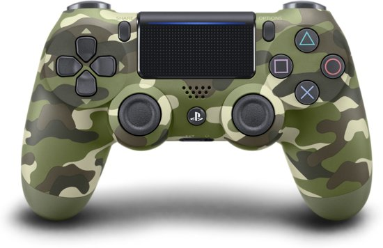 Sony Dual Shock 4 Controller V2 (Green Camouflage)