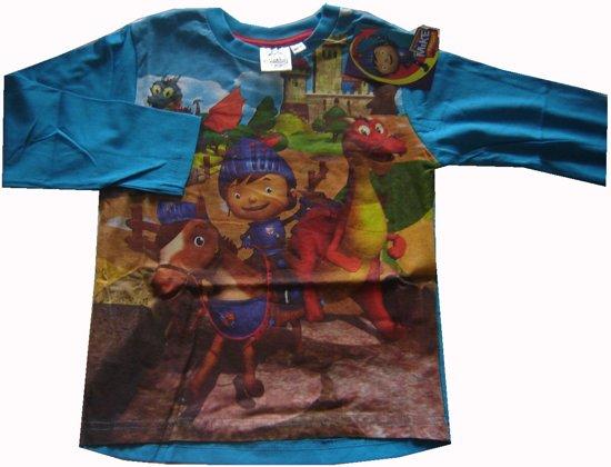 Helderblauw shirt van Mike de Ridder maat 116/122