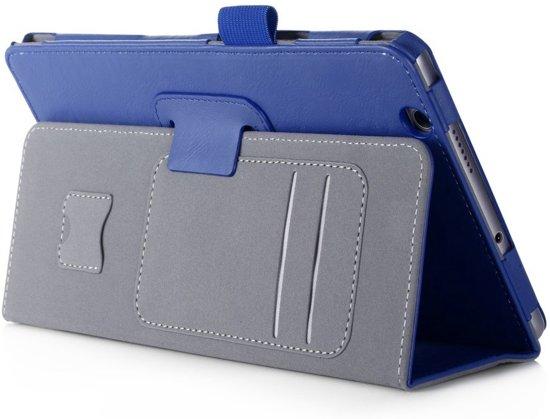 Shop4 - Huawei MediaPad M3 Hoes - Handige Book Cover Donker Blauw in Hoorn