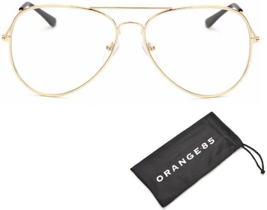 Bril zonder sterkte - Goud - met hoesje