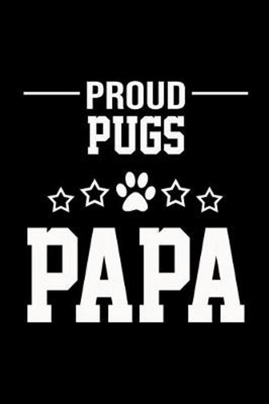 Proud Pugs Papa: Hangman Puzzles - Mini Game - Clever Kids - 110 Lined Pages - 6 X 9 In - 15.24 X 22.86 Cm - Single Player - Funny Grea