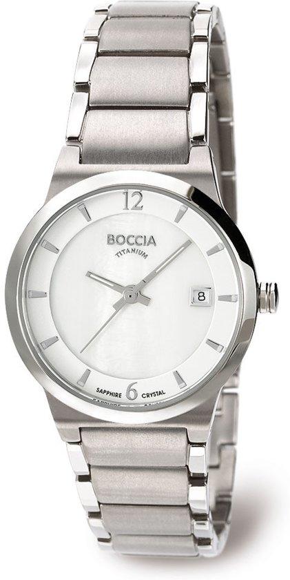 Boccia Titanium 3223-01 Horloge - Titanium - Zilverkleurig - 28 mm