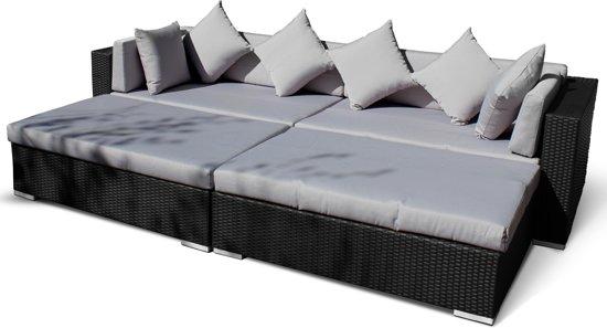 Lounche Set Kussens : Bol designs loungeset ligbed sunflower zwart vlechtwerk