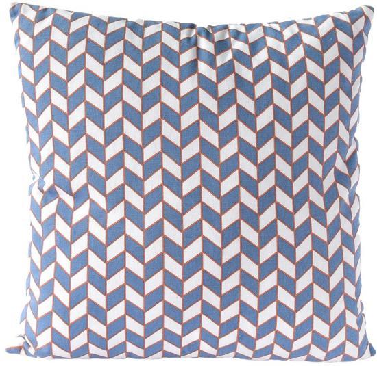 Kussen Blauw Wit.Sierkussen Decoratie Kussen Chess 45 X 45 Cm Blauw Wit