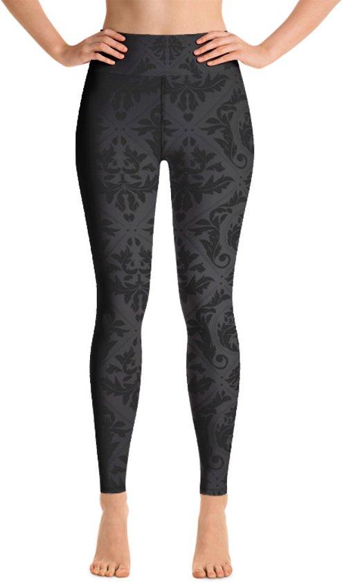 Relax - Dames Leggings - Yogaleggings - Hoge Taille - Sneldrogend - Black Batik 3