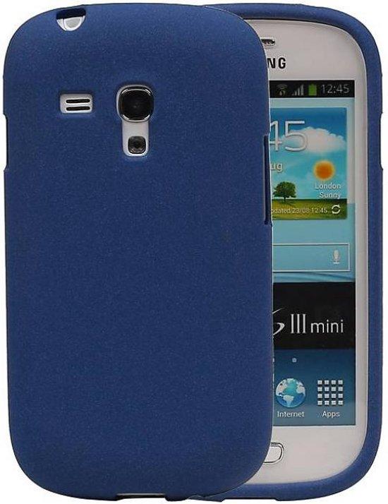 Samsung Galaxy S3 mini Hoesje Sand Look TPU Blauw