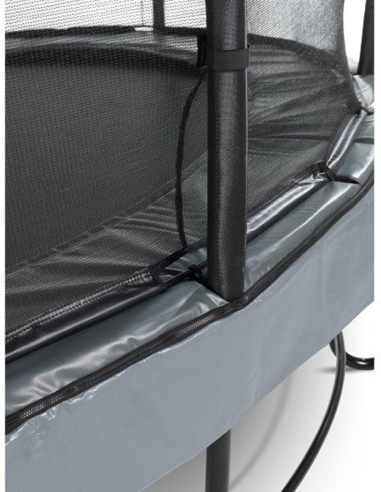 EXIT Elegant trampoline ø253cm met veiligheidsnet Economy - grijs