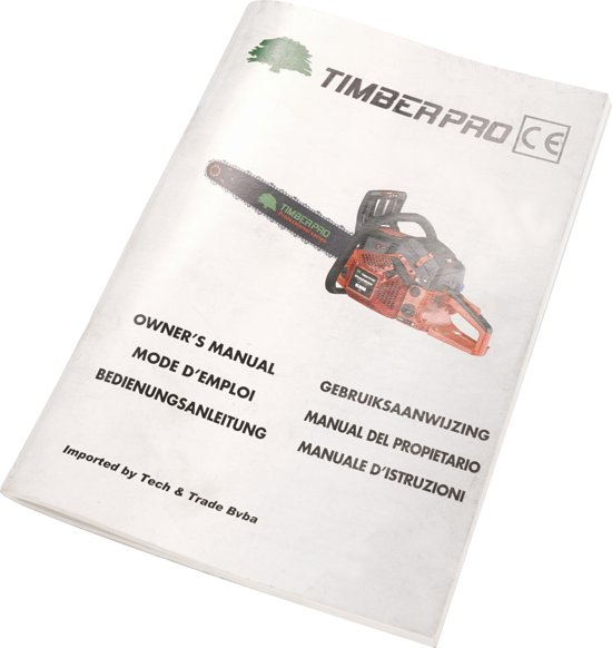 TIMBERPRO - Kettingzaag - Motorzaag - 61,5 cc - PRO