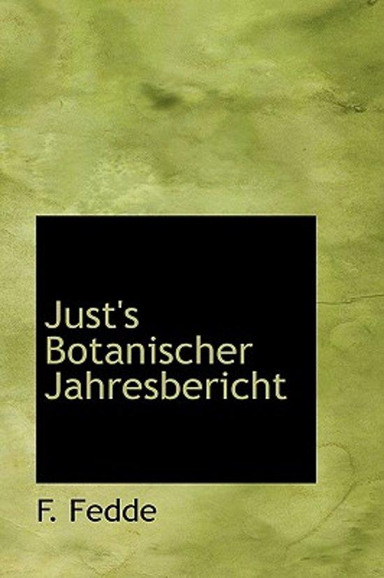 Just's Botanischer Jahresbericht