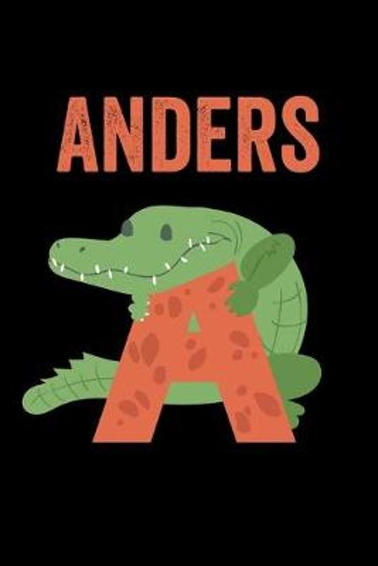 Anders: Journal (Diary, Notebook) Personalized Custom Name Alphabet Alligator Birthday Gift for Boys