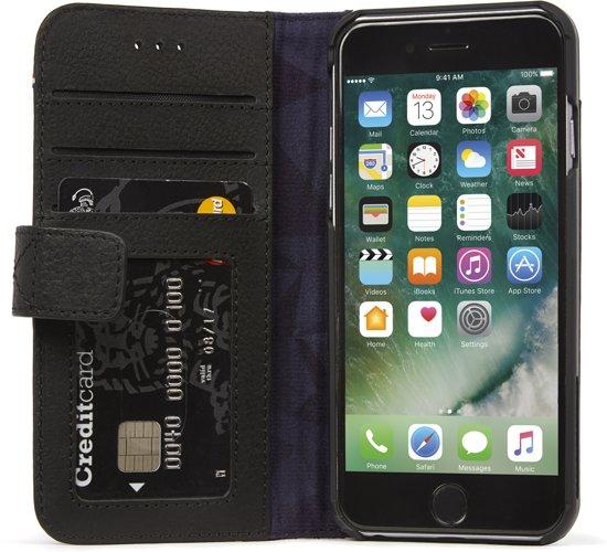 Decoded Leather Wallet Case met magneet sluiting voor iPhone 7 / 6s / 6 (4.7 inch) Zwart