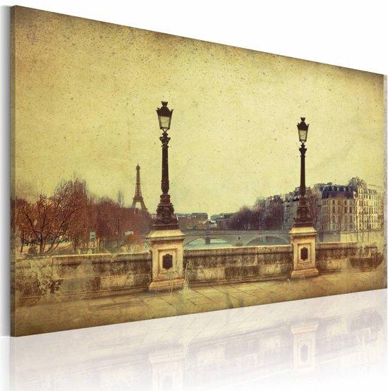 Schilderij - Parijs - de stad van dromen, Sepia