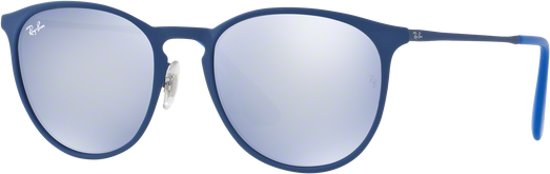 Ray-Ban RB3539 90221U - Erika (Metal) - zonnebril - Blauw / Blauw-Grijs Spiegel - 54mm