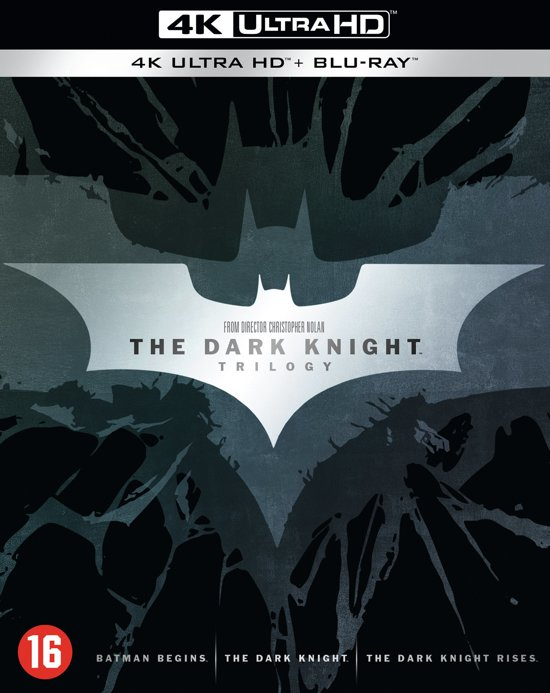DVD cover van The Dark Knight Trilogy (4K Ultra HD Blu-ray)