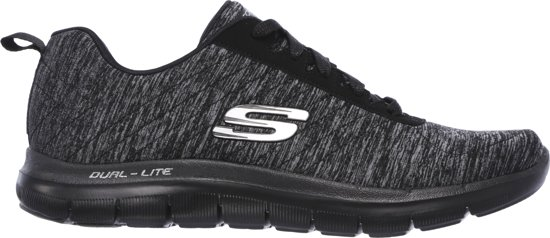 e228b7195cf bol.com | Skechers Flex Appeal 2.0 Sneakers Dames - Black Charcoal