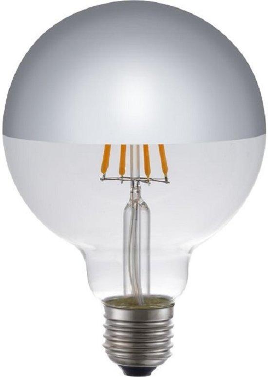 SPL LED Filament Globe Zilver (kopspiegellamp) - 6,5W / DIMBAAR Ø95mm