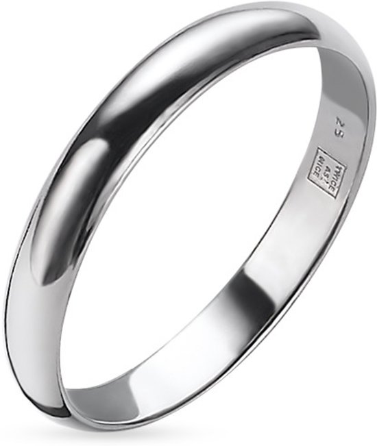 Twice As Nice Ring in zilver, 3 mm  54